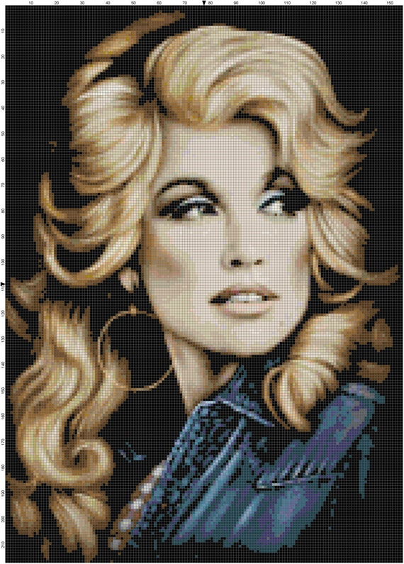 Dolly Parton PDF Cross Stitch Pattern