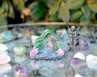 Mini Fairy Shrine, Mini Shrine, Small Shrine, Altar Shine, Offering Bowl, Altar bowl, Offering Dish, Fairy Offering, Small Shrine, Mini