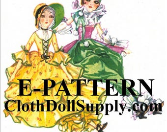 E-Pattern – Colonial & Flapper Dolls Sewing Pattern #EP 1