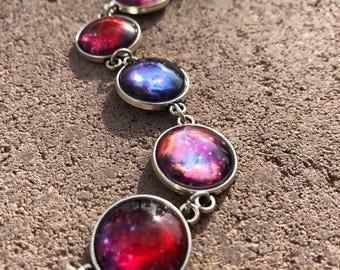 Galaxy Bracelet, Galaxy Jewelry, Milky Way Bracelet, Stardust Jewelry, Space Jewelry, Cosmic Jewelry, Stars and Space Jewelry