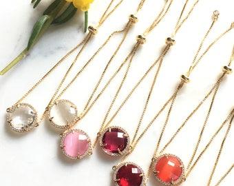 Crystal Bracelet, Gemstone Bracelet, Birthstone Bracelet, Layering Simple Bracelet, Birthday Gift Her, Bridesmaid Bracelet Jewelry FNAPAB