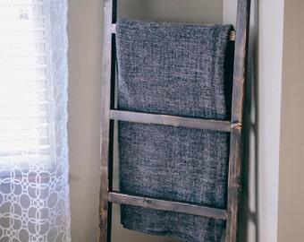 "Blanket Ladder 5ft Rustic Ladder - Decorative Towel Ladder - Farmhouse Ladder - 60""x20"" Ladder - Quilt Storage - Quilt Ladder - Chic Decor"
