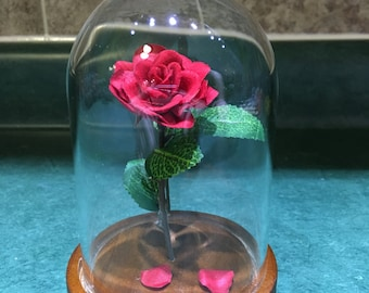 Engraved Beauty and the Beast Rose (small)