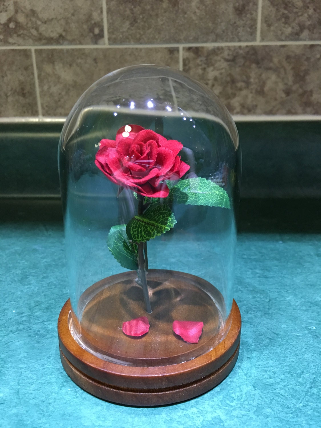 Engraved Beauty And The Beast Rose Small