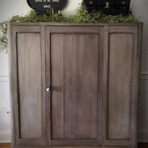 SOLD Vintage Wood Cabinet, Vintage Armoire, Farmhouse Cabinet, Painted  Cabinet, Wood Pantry