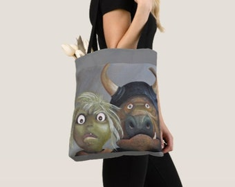 Tote bag - Bad Babysitters - Acrylic Art Painting - Goblins 2 sided