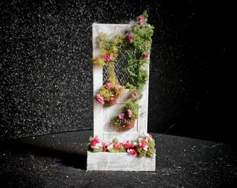 Quarter scale Miniature floral door display