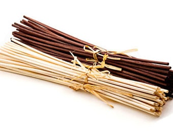 Replacement Oil Diffuser Reeds, Two Sets of 12 Rattan Reeds, Dark Brown