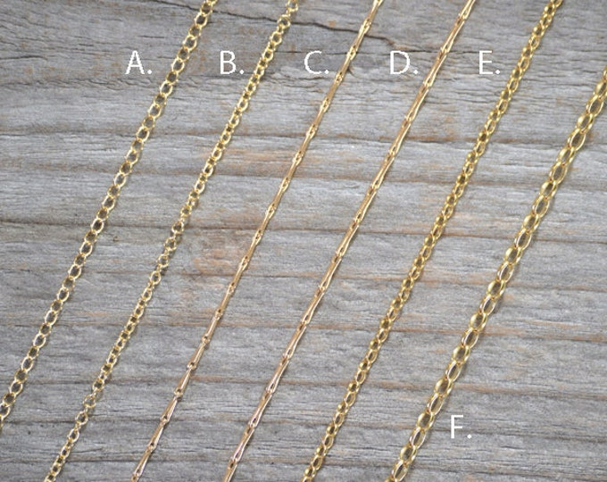 "Solid 9ct Yellow Gold Chain, Trace Chain, Barleycorn Chain, Belcher Chain, 16"", 18"", And 20"", Made In England"