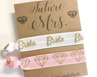 Future Mrs - Bride Gift | Bride To Be | Bride Hair Tie | Engagement Gift | Newly Engaged | New Bride Gift