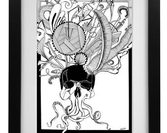 The heavy crown Print Ink Painting Print Abstract Art Print Wall Art Living Room Decor Wall Decor Unframed