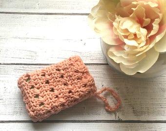 Crochet soap saver/ set of two/ washcloth/ soap bag/ Eco friendly