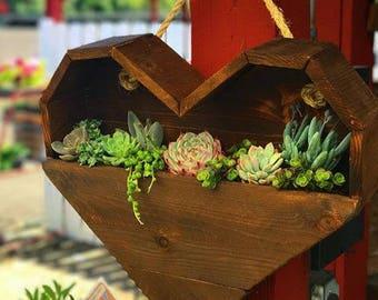 Hanging Heart Succulent Planter
