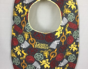Game of Thrones Flannel / Terry Cloth Bib