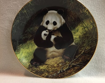 W.L. George - Last of Their Kind: The Endangered Species Collector Plate - 'The Panda' (#349)