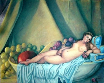 The Titian Venus  OIL on Canvas 24x30""