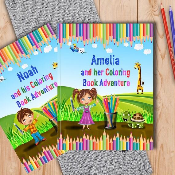 Libro de colorear para niños personalizados con el nombre y