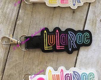 Pack of 10 Lu la Embroidered Keychains, Advertise LLR business, LuLaBabies Gift, LLR keychain, LLR keyfob