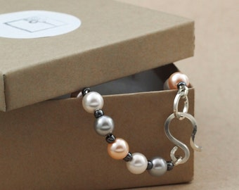 Peggy Sue Pearls and Sterling Silver Bracelet
