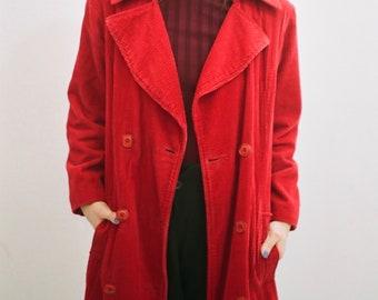 Red Corduroy Coat
