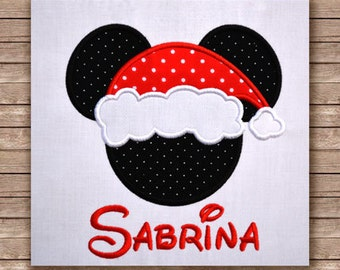 Minnie christmas hat 132 - Machine embroidery design, applique embroidery design for christmas