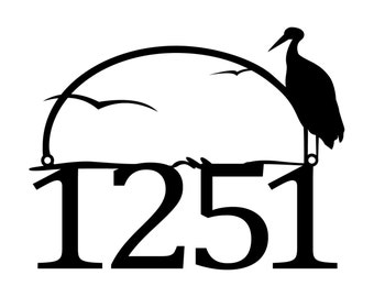 """Metal House Numbers Sign 