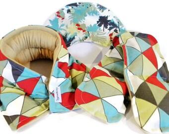 Heat Packs for Neck Eye Feet, Spa Gift Set, Microwave Hot Cold Pads, Feel Better Gift Idea, Hospital, Chronic Illness Injury, green paisley