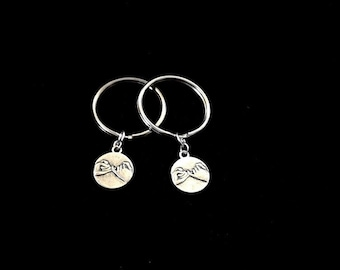 2 pinky promise  keychain