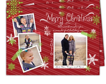 10 - 4x6 or 5x7 Photo Holiday Christmas cards /White envelopes included