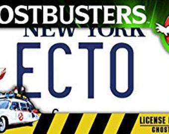 GHOSTBUSTERS - ECTO 1 - liscence plate replica