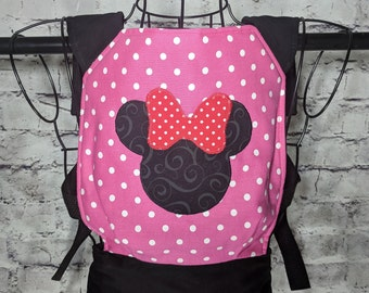 Minnie mouse baby doll/stuffed animal carrier