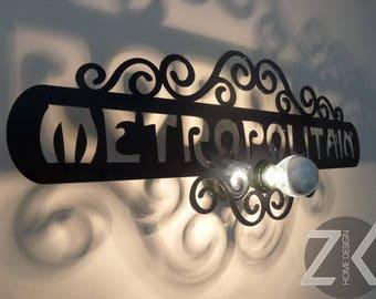 Design lamp applique Metropolitan Paris
