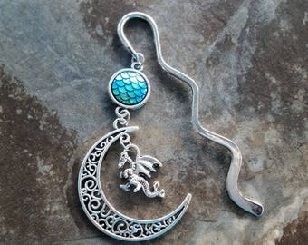 Dragon Bookmark, mermaid scales, dragon scales, fish scales teachers gift, student gift, gift for her, gift for him.......handmade
