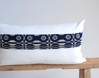 Lumbar Pillow Cover/Ivory Linen/Vintage Stripe/Modern/Accent Pillow/New Collection/Zigazag Studio Design