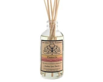 Plumeria diffuser reed diffuser refill  diffuser oil  hawaiian scented fragrance room deodorizer air freshener home fragrance room fragrance