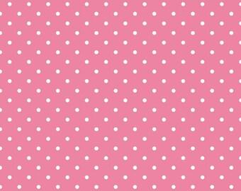 White swiss dots on hot pink basics by Riley Blake - C670-70 blender