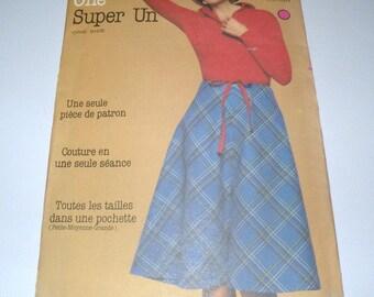 1970s Butterick 5403 WRAP SKIRT Pattern, One Size, UNCUT