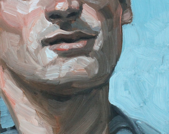 Rugged Young Person in Their Mid 20s, oil on canvas panel 8x10 inches by KennEy Mencher