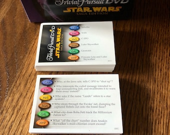 Trivial Pursuit Star Wars Saga Edition Extra Cards  ~ Vintage Trivial Pursuit cards ~ Trivial Pursuit Special Edition