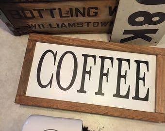 Coffee Sign, Coffee Bar Decor, Coffee Bar Sign, Farmhouse Decor, Farmhouse Signs, Coffee Station signs, Rustic Wood Signs,