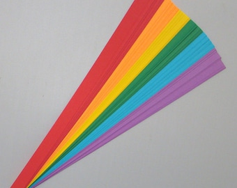 Rainbow Mix : Lucky Stars Paper Strips (100)