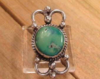 Vintage Sterling Silver Turquoise Ring Size 7