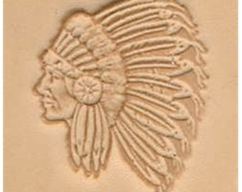 Indian Chief - Leather Stamp Tool