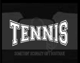 Tennis Vinyl Decal, Car Window Decal, Laptop, Tablet, Window Sticker, Car Vinyl Sticker, Custom Vinyl, tennis player
