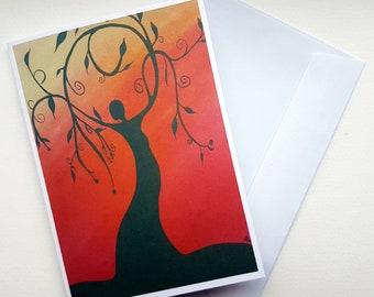 Goddess Card, Pagan Card, Wiccan Card, Sabbat Card, Altar Card, Ritual Card, A6 Card, Earth Goddess, Blank Card, Gift Card, Greetings Card