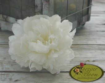 Real Touch Flower Comb / Silk Flower Comb / Artificial Flower Comb / Peony Flower Comb / Real Touch Peony  / Real Touch White Peony