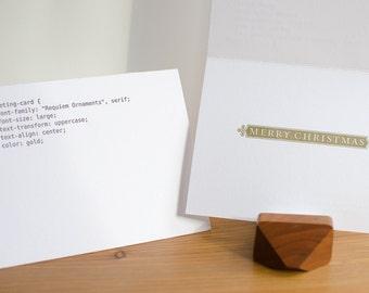 CSS Merry Christmas Letterpress Card