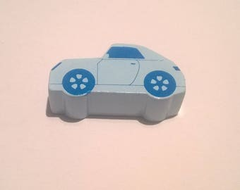 Pearls with motives - light blue car