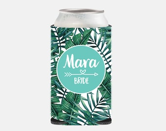 Bride Gift from Bridesmaid Bride Can Cooler Bride Gift from Maid of Honor Bride Can Cover Bridesmaid Favor Bridesmaid Gift Tropical YZ BFG