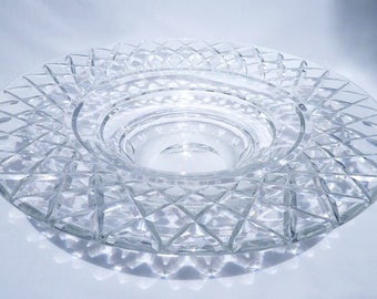 Val St Lambert XL Crystal Coupe Cyclope Bowl